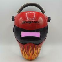 Snap-On Welding Helmet  Auto-Darkening Red with Flames - $98.99