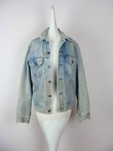 Vintage Levi's Denim Jacket 70's Thrashed Distressed Destroyed Faded Sta... - $98.00