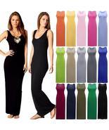 Fashion Women Sleeveless Casual Maxi Tank Dress - $10.00