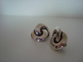 SALE 1940s earrings, sterling silver, antique - $44.99