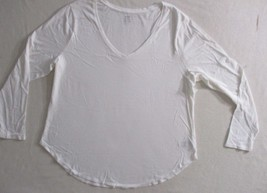 Old Navy Women Top 2XL White V Neck Long Sleeves Relaxed 1805 - $12.59