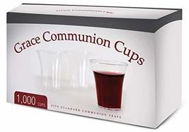 Grace Communion Cups - Box of 1000 - Plastic Disposable Fits Standard Ho... - $23.14