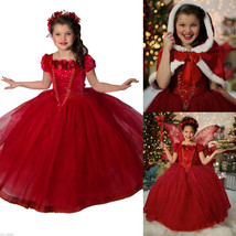 Hot Girls Kids Princess Party Outfit Kids Cosplay costume Dress Christmas. - $20.99
