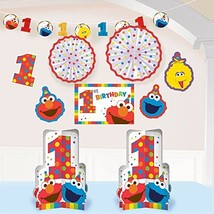 amscan 1st Birthday Elmo Room Decorating Kit 10 Piece Party Supplies Elm... - $14.25