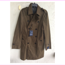 $895.00 Hickey  Freeman Light Weight Lined Waxed Cotton top coat Olive Size 42  - $452.81
