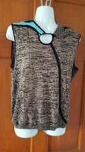 WOMAN JAMIE SADOCK SLEEVELESS HIGH FASHION KNIT SWEATER SZ L,TAUPE BLUE,... - $19.79