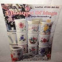 Bouquet of Mugs Flowers Cross Stitch Leaflet 2135 Leisure Arts 1991 - $9.99