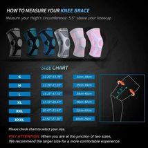 NEENCA Professional Knee Brace with Patella Gel Pads & Side Stabilizers, Size L image 3