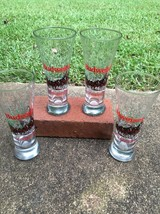 Budweiser Clydesdale Glasses Set Of 4 Made In 1989 - $12.62