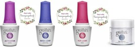 Gelish Dip Clear Powder + Essentials liquid top, base, activator 0.5 oz  - $29.69