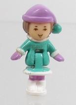 1993 Vintage Lot Polly Pocket Doll Ski Lodge - Lulu Bluebird Toys - $7.50