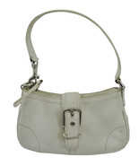 Coach 7542 White Leather Hampton Demi Hobo Small Buckle Handbag Purse  - $39.69