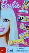Barbie tin box Dominoes set by Cardinal - $6.88
