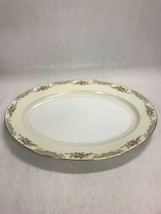 Mid Century Modern NORITAKE M floral Platter oval 16 by 12 inch large se... - $49.49