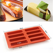 Silicone Classic Collection Shapes Non Stick Eclair 8 Forms Silicone Baking Mold - $15.99