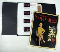 antique SUPP-HOSE MOJUD NYLON STOCKINGS w BOX PAPERWORK unused FINE kays... - $64.95