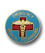 EMT Pin Emergency Medical Tech Caduceus Gold Plate Insignia Emblem 943 New - $13.55