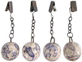 Esschert Design USA Aged Ceramic Tablecloth Weights, Set of 4 - $246,37 MXN