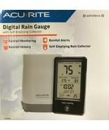 AcuRite 02446M Wireless Rain Gauge with Indoor Digital Display, Black - $45.49