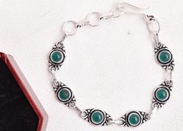 925 Sterling Silver Polished Handmade Charm Bracelet Onyx Gemstone BGS-1... - $17.45