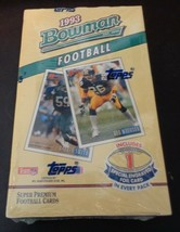 1993 Bowman Football Factory Sealed Box 24 Packs NFL Gold Foil Card Per Pack - $31.49