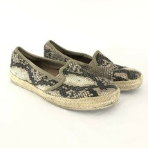 Clarks Collection Womens Shoes Slip On Espadrilles Faux Snakeskin Brown Size 7 - $30.95
