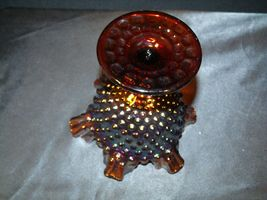 Imperial Hand Crafted Purple Carnival Glass Compote USA AA19-CD0041 Vintage image 4