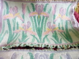 5 Floral Woven Cloth Place Mats/4 pink, one lavender - $11.95
