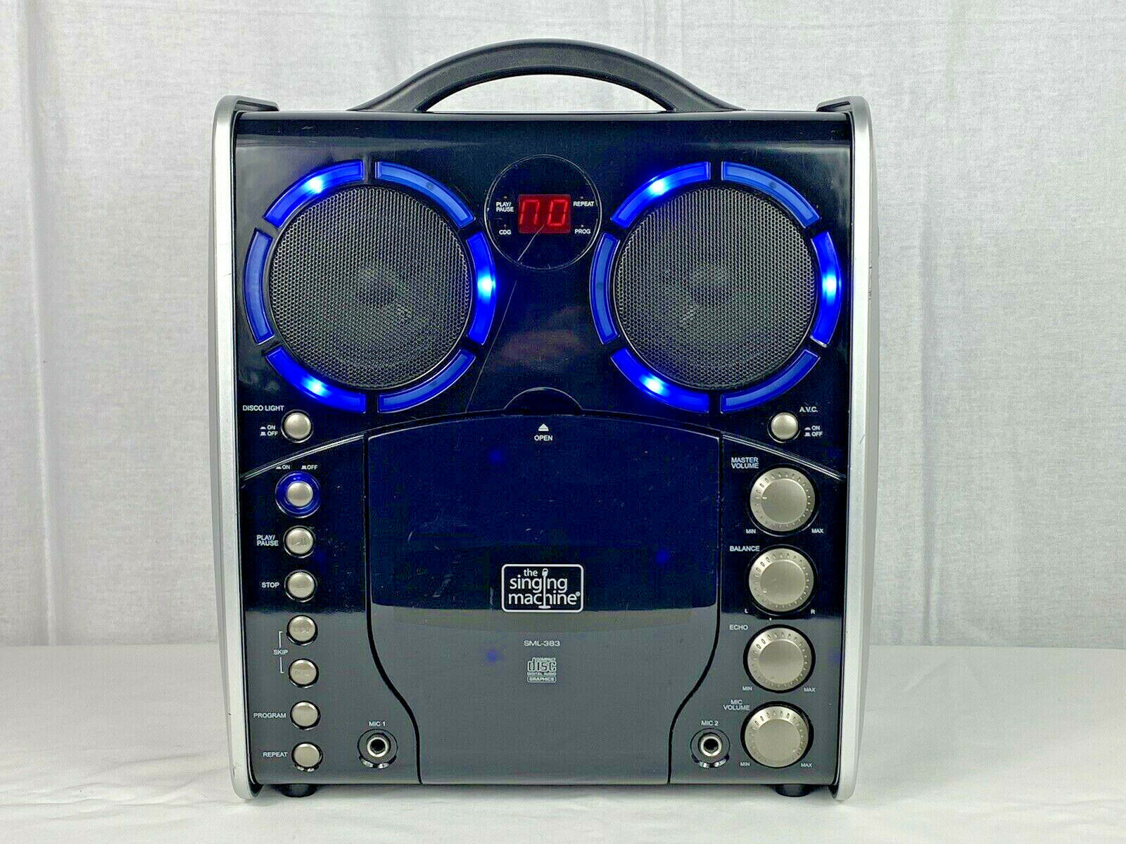 Primary image for The Singing Machine SML-383 Portable Karaoke Speaker Set w/ Disco Lights No Mic