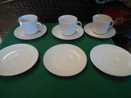 JOHNSON BROS  Ironstone England Set 3 CUPS & SAUCERS 3 FREE Saucers & FR... - $17.41