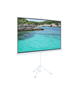 "New 100"" Tripod 16:9 HD Projector Screen Multi Aspect Ratio Pull Up With... - $69.99"
