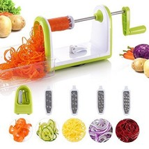 Vegetable Spiralizer Veggie Zucchini Spiral Slicer Food Noodle Maker Cut... - €14,25 EUR