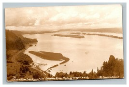 Vintage 1930's RPPC Postcard Panoramic Columbia River Crown Point Oregon - $25.71