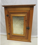 Antique Primitive Rustic Country Pine Hanging Wall Corner Cabinet Bath M... - $247.45