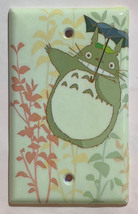 Totoro green Light Switch Outlet Toggle Rocker Wall Cover Plate Home decor image 4
