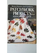 Patchwork Projects Better Homes And Gardens 15 Full Size Patterns 1985 - $4.94