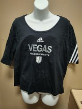 adidas Las Vegas Knights Fashion Tee Womens Small Black GQ8453 - $14.25