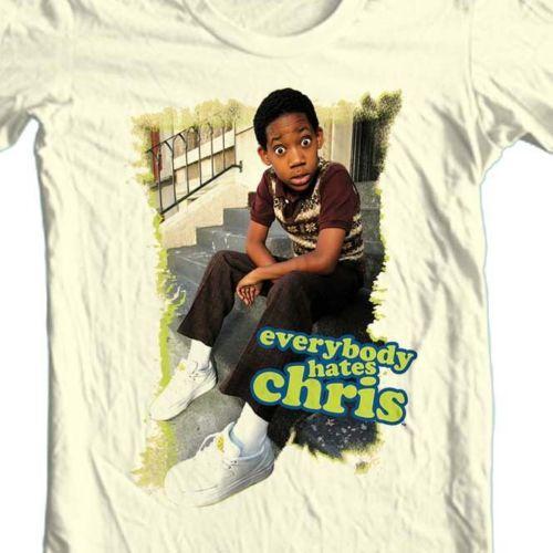 Everyone hates chris retro tv show rock tshirt graphic tan tee