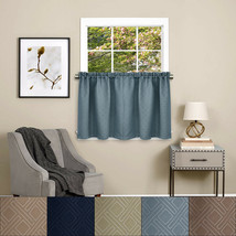 "Twilight Room Darkening Energy Saving Kitchen Curtain Tier Pair 24""x52"" - $14.79"