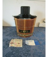VTG Sterling Ice Cream Maker Freezer 5 Qt Wood Bucket RCW Richmond Cedar... - $49.54