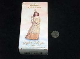 """Poinçon Souvenir Joyful Tiding Gilda 4 """" Noël Ornement Décoration Des Fetes - $9.19"""
