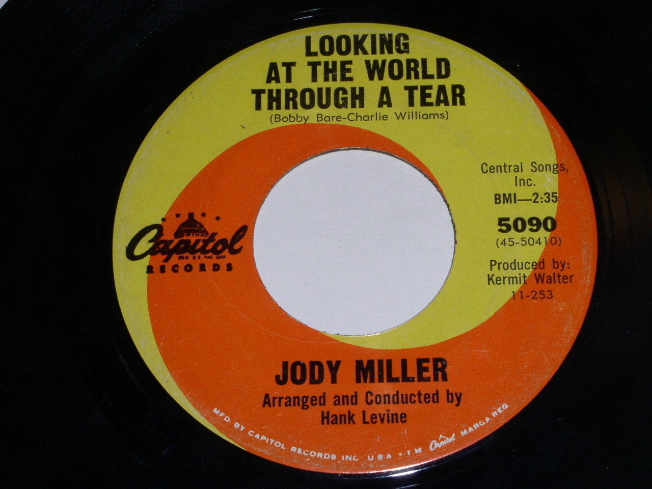 Jody Miller Looking At The Word Through A Tear 45 Rpm Record Vintage Capitol