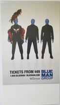 "Blue Man Group at Venetian Las Vegas Table Tent 9"" x 5"" - $11.95"