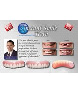 Instant Smile Veneer Set with Large Top Set of White Teeth and Bottom Se... - $28.66