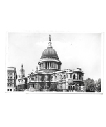 UK London England St Paul's Cathedral Valentine & Sons G;ossy RPPC Postcard - $4.99