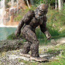 "large Hand Painted 28½"" Bigfoot The Garden Yeti Statue decor halloween prop - €136,48 EUR"