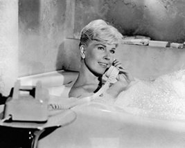 Doris Day in Pillow Talk on telephone in bubble bath 16x20 Canvas Giclee - $69.99