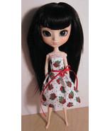 Evergreens Dress Pullip Momoko Jenny Doll Size Handmade by Me Cotton OOAK - $18.97