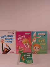 Lot of 4 Dr Suess Kids Board Book Body Parts Tooth Eye Foot Hand Books - $6.85
