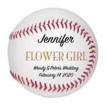 Flower Girl Custom Baseball Wedding Gift - Personalized Wedding Favor - $34.95